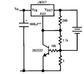schema elettrico caricabatterie per cellulare
